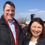Gemeinsam mit Ministerin Siegesmund: unser Kandidat Stefan Fricke